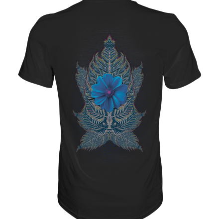 Psychedelic T-Shirt Psywear tshirt blue flower parandroid art printart